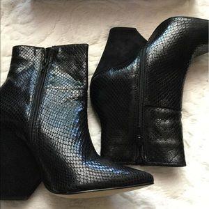 Bakers Faux Leather Block Heel Booties
